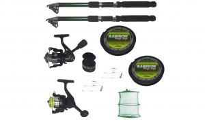 Set complet de pescuit cu 2 lansete