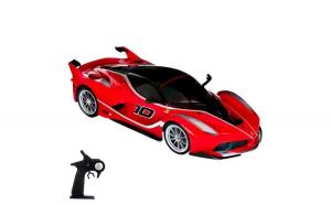 Masinuta sport de jucarie cu telecomanda. model ferrari. rosu. 53x24x20 cm