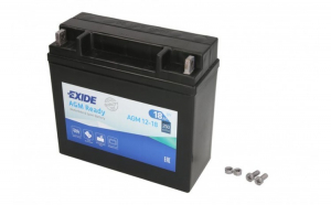 Baterie moto AGM fara intretinere EXIDE 12V 18Ah 250A R+ 181x77x167  AGM12 18