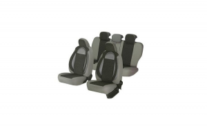 Huse scaune auto CITROEN C1 2005-2010  dAL Racing  Gri,Piele ecologica + Textil