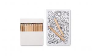 Set de colorat pentru adulti - 10 planse si 12 creioane colorate, cel mai relaxant si placut mod de a va petrece timpul liber