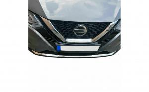Ornament protectie bara fata crom Nissan Qashqai II Facelift din 2017