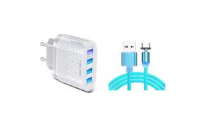 Set Incarcator Retea 4x USB Incarcare