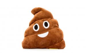 Jucarie de Plus Stil Poop Emoji, Maro XXL 50 CM, Happy Face