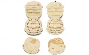 Cutiuta lemn pentru dintisorii de lapte
