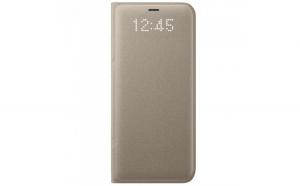 Husa Samsung Flip Originala, LED View Cover, Galaxy S8+, Auriu