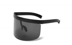 Ochelari de soare intregi, supradimensionati, negri, tip sudor