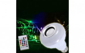 Bec LED disco, cu boxa 3W