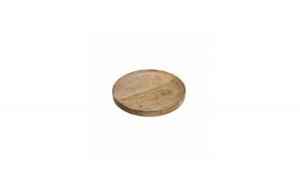 Platou rotund adanc din lemn de mango 30