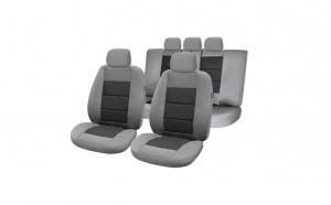 Huse scaune auto compatibile LAND ROVER Freelander II 2006-2014 (4 usi) PLUX (Gri UMB2)