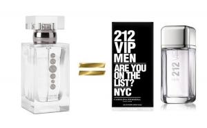 Apa de parfum marca alba   M027 marca ESSENS Interpretare  CAROLINA  HERRERA  212VIP MEN