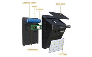 Lampa LED solara cu senzor de lumina cu 20  de leduri