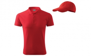 Tricou barbati + sapca, culoare rosu, marimi 3XL si 4XL