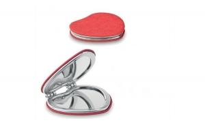 Oglinda dubla in forma de inima - pentru doamnele si domnisoarele cochete