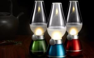 Felinar LED aspect retro, cu stingere prin suflare
