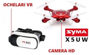 Drona Syma X5UW + Ochelari VR Cadou, Dragobete, El