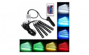 Set 4 benzi LED auto cu lumina ambiental