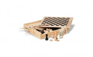 Set 4 jocuri de societate, Ziua copilului, Jucarii de lemn