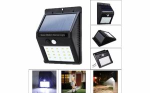 Lampa cu incarcare solara si senzor de miscare, 20 leduri
