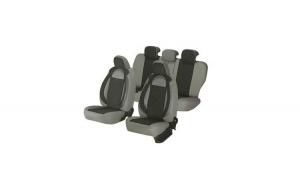 Huse scaune auto FORD FIESTA 2000-2010  dAL Racing  Gri,Piele ecologica + Textil