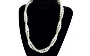 Set elegant colier si cercei cu perle