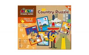 Set 26 puzzle-uri cu Tari, 52 piese