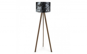 Lampadar trepied modern, Insignio, negru maro, 115cm, 1xE27, Model Ayd-1204