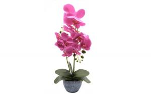 Ghiveci decorativ cu flori artificiale,