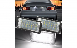 set 2 lampi numar full led dedicate BMW