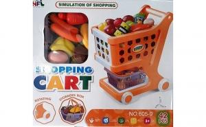 Carucior cumparaturi + cos + accesorii