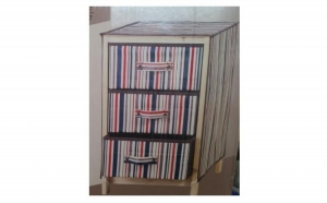 Organizator tip dulap cu sertare, material textil + lemn, la 79 RON in loc de 199 RON