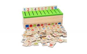 Cutie sortatoare Montessori cu 88 de