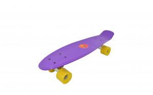 Penny board- 55 cm, roti din silicon, mov