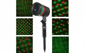 Proiector laser Craciun, instalatie