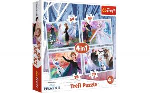 PUZZLE TREFL 4IN1 FROZEN2 PADUREA MAGICA