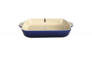 Tava ceramica pentru copt dreptunghiulara albastra 39x24x6cm Exquise Colors 015664