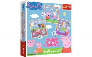 PUZZLE TREFL 3IN1 PEPPA PIG ACTIVITATI