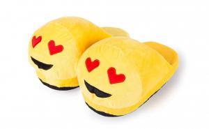 Papuci casa Emoji indragostit 3D Copii