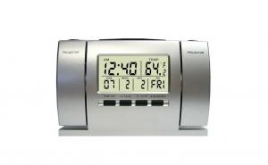 Ceas cu dubla proiectie: ora si temperatura + portofel