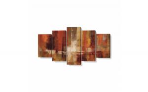Tablou MultiCanvas 5 piese, Castanets, 100 x 50 cm, 100% Bumbac