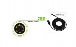 Camera endoscop foto/ video, diametru 7mm, cablu de 10m, waterproof, la doar 129 RON in loc de 239 RON!