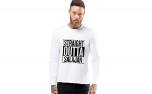 Bluza barbati alba - Straight Outta Salajan