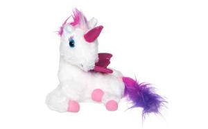 Unicorn de plus cu lumini. 24 cm. multicolor