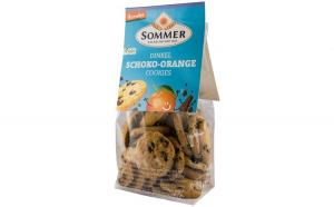 Biscuiti bio din grau spelta cu ciocolata amaruie si ulei de portocale, Demeter, 150 g SOMMER