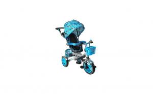 Tricicleta copii multifunctionala pliabila albastra
