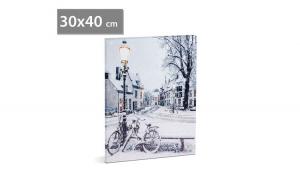 FAMILY POUND - Tablou cu LED - peisaj de iarna, 2 x AA, 30 x 40 cm GLZ-58017B