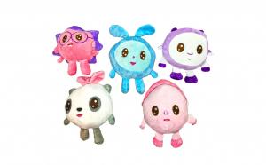 Set 5 jucarii de plus Baby Riki - Milu, Grohi, Ariciul, Topa si Pandi