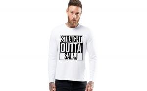 Bluza barbati alba - Straight Outta Salaj