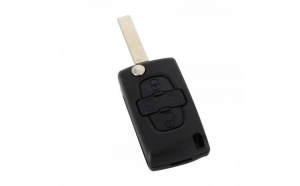 Peugeot - Carcasă cheie tip briceag, 4 butoane,