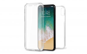 Husa 360 grade silicon fata spate Iphone XS Max Transparenta